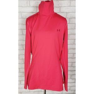 Under Armour Womens High Neck ColdGear Pink Top